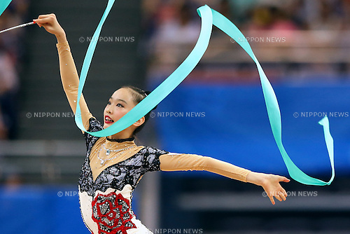 Takana Tatsuzawa (JPN), <br /> August 26, 2014 - Gymnastics - Rhythmic : <br /> Girls' Individual All-Around Qualification Rotation 3   <br /> at Nanjing Olympic Sports Center  <br /> during the 2014 Summer Youth Olympic Games in Nanjing, China. <br /> (Photo by AFLO SPORT)