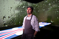 Chef Paul Pairet stands for a photograph at his Ultraviolet restaurant in Shanghai, China on 27th Sept 2013. <br /> <br /> Photo by Qilai Shen / Sinopix