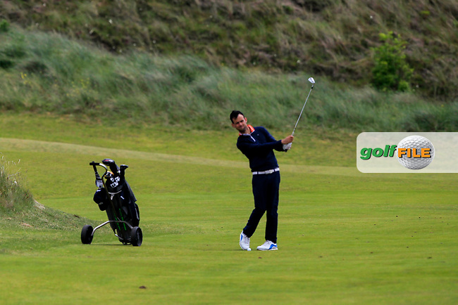 Paul Coughlan (Castleknock) on the 4th fairway during Round 1 of the The Amateur Championship 2019 at The Island Golf Club, Co. Dublin on Monday 17th June 2019.<br /> Picture:  Thos Caffrey / Golffile<br /> <br /> All photo usage must carry mandatory copyright credit (© Golffile | Thos Caffrey)