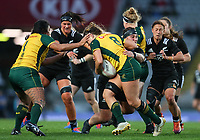Action from the International Women's Rugby match between the New Zealand All Blacks and Australia Wallabies at Eden Park in Auckland, New Zealand on Saturday, 17 August 2019. Photo: Simon Watts / lintottphoto.co.nz