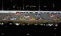 Feb 07, 2009; Daytona Beach, FL, USA; NASCAR Sprint Cup Series driver Carl Edwards (60) races alongside Denny Hamlin (11) for the lead during the Bud Shootout at Daytona International Speedway. Mandatory Credit: Mark J. Rebilas-