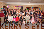 21ST BIRTHDAY: Lynda Lyons, Knocknagoshel (seated centre), celebrating her 21st birthday party with her friends and family in the Crown Hotel, Castleisland, on Saturday night.   Copyright Kerry's Eye 2008