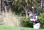 Lorenzo Gagli (ITA) chips out of the bunker and into the hole on the 16th on Day 1 of the 2012 Open de Andalucia Costa del Sol at Aloha Golf Club, Marbella, Spain...(Photo Jenny Matthews/www.golffile.ie)