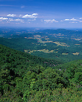 Shenandoah National Park, VA<br /> Expansive view on a clear morning overlooking the Shenadoah Valley from Hogback Overlook