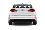 Straight rear view of 2017 KIA Forte EX-AT 4 Door Sedan Rear View  stock images