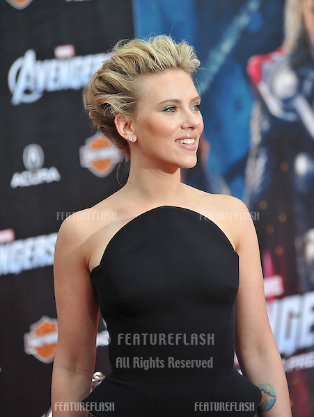"""Scarlett Johansson at the world premiere of her new movie """"Marvel's The Avengers"""" at the El Capitan Theatre, Hollywood..April 11, 2012  Los Angeles, CA.Picture: Paul Smith / Featureflash"""