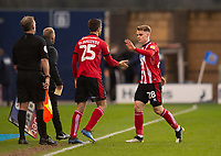 Lincoln City's Jake Hesketh is replaced by Zack Elbouzedi<br /> <br /> Photographer Andrew Vaughan/CameraSport<br /> <br /> The EFL Sky Bet League One - Shrewsbury Town v Lincoln City - Saturday 11th January 2020 - New Meadow - Shrewsbury<br /> <br /> World Copyright © 2020 CameraSport. All rights reserved. 43 Linden Ave. Countesthorpe. Leicester. England. LE8 5PG - Tel: +44 (0) 116 277 4147 - admin@camerasport.com - www.camerasport.com