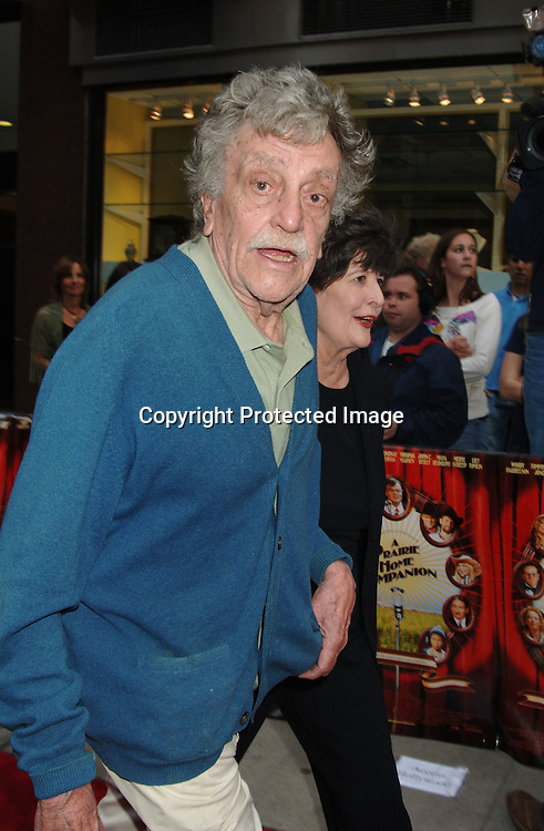 """Kurt Vonnegut and wife Jill Krementz..at The New York Premiere of """"A Prairie Home Companion""""..on June 4, 2006 at The DGA Theatre. ..Robin Platzer, Twin Images"""