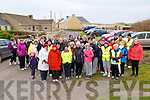 Hospice Walk: Members of the Cashen Pier l Hospice Movement who took part in the annual Good Friday fundraising walk pictured at the Cashen Pier prior to departure.