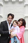 Ricky Paull Goldin & son Kai & wife Gretta Monahan at All My Children's Good Night Pine Valley was held on September 17, 2011 at Prohibition, New York City, New York.  (Photo by Sue Coflin/Max Photos)