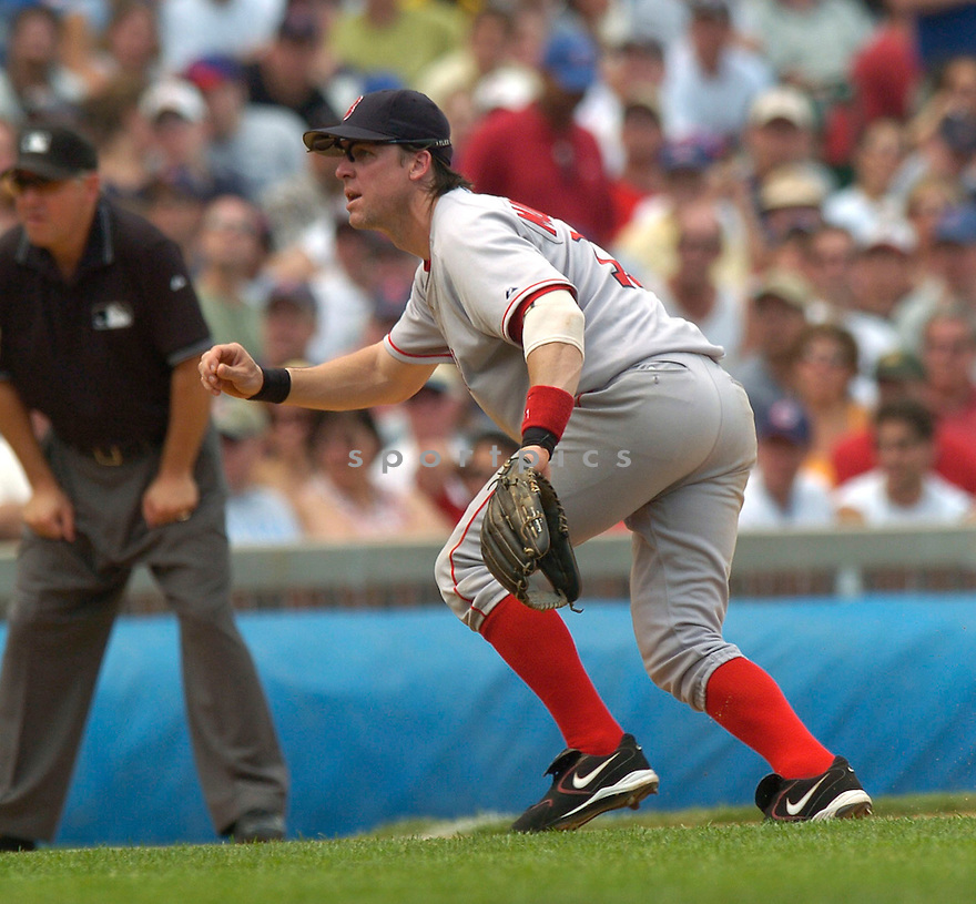 Bill Mueller, of the Boston Red Sox, in action against the Chicago Cubs  , on June 10, 2005...Cubs win 14-6...David Durochiki / SportPics