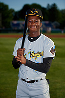 West Virginia Black Bears Victor Ngoepe (6) poses for a photo before a NY-Penn League game against the Batavia Muckdogs on June 26, 2019 at Dwyer Stadium in Batavia, New York.  Batavia defeated West Virginia 4-2.  (Mike Janes/Four Seam Images)