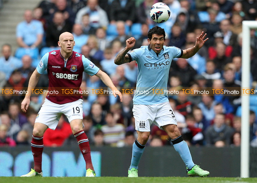 Carlos Tevez of Man City - Manchester City vs West Ham United, Barclays Premier League at the Etihad Stadium, Manchester - 27/04/13 - MANDATORY CREDIT: Rob Newell/TGSPHOTO - Self billing applies where appropriate - 0845 094 6026 - contact@tgsphoto.co.uk - NO UNPAID USE.