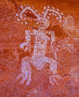 "Pictographs, Souhtern Utah Ancient Native American rock art paintings ""The Easter Bunny"""