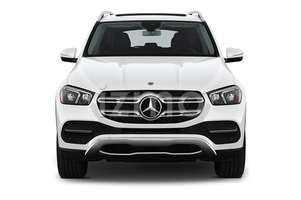 Car photography straight front view of a 2020 Mercedes Benz GLE 350 5 Door SUV Front View