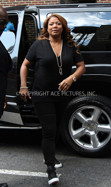 WWW.ACEPIXS.COM . . . . .  ....July 10 2012, New York City....Queen Latifah made an appearance at the Late Show with David Letterman on July 10 2012 in New York City....Please byline: Zelig Shaul - ACE PICTURES.... *** ***..Ace Pictures, Inc:  ..Philip Vaughan (212) 243-8787 or (646) 769 0430..e-mail: info@acepixs.com..web: http://www.acepixs.com