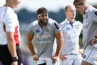 Guy Mercer of Bath Rugby looks on during a break in play. Pre-season friendly match, between Bristol Rugby and Bath Rugby on August 12, 2017 at the Cribbs Causeway Ground in Bristol, England. Photo by: Patrick Khachfe / Onside Images