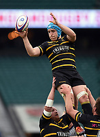 Edd Pascoe of Cornwall wins the ball at a lineout. Bill Beaumont County Championship Division 1 Final between Cheshire and Cornwall on June 2, 2019 at Twickenham Stadium in London, England. Photo by: Patrick Khachfe / Onside Images