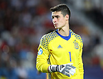 Spain's Kepa Arrizabalaga in acton during the UEFA Under 21 Final at the Stadion Cracovia in Krakow. Picture date 30th June 2017. Picture credit should read: David Klein/Sportimage