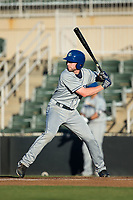 Vince Fernandez (8) of the Asheville Tourists at bat against the Kannapolis Intimidators at Kannapolis Intimidators Stadium on May 8, 2017 in Kannapolis, North Carolina.  The Tourists defeated the Intimidators 7-5.  (Brian Westerholt/Four Seam Images)