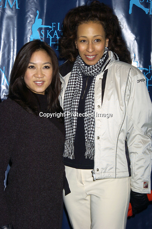 Michelle Kwan and Tamara Tunie ..at The Figure Skating in Harlem Benefit on February 7,2005 at The Wollman Rink. ..Photo by Robin Platzer, Twin Images