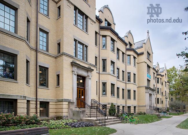 October 31, 2017; Walsh Hall. (Photo by Barbara Johnston/University of Notre Dame)