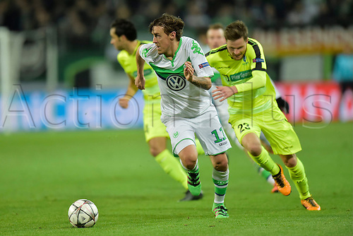 08.03.2016. Wolfsburg, Germany.  Max Kruse forward of VfL Wolfsburg in action during the Champions League Round of 16, second leg match between VfL Wolfsburg and KAA Gent at the Volkswagen Arena in Wolfsburg, Germany.
