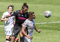Leeds United's Luke Ayling  (left) competing with Swansea City's Jake Bidwell <br /> <br /> Photographer Andrew Kearns/CameraSport<br /> <br /> The EFL Sky Bet Championship - Swansea City v Leeds United - Sunday 12th July 2020 - Liberty Stadium - Swansea<br /> <br /> World Copyright © 2020 CameraSport. All rights reserved. 43 Linden Ave. Countesthorpe. Leicester. England. LE8 5PG - Tel: +44 (0) 116 277 4147 - admin@camerasport.com - www.camerasport.com