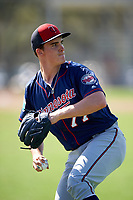 Minnesota Twins pitcher Nick Burdi (77) during a Spring Training practice on March 1, 2016 at Hammond Stadium in Fort Myers, Florida.  (Mike Janes/Four Seam Images)