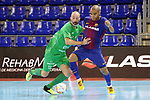 League LNFS 2017/2018 - Game 10.<br /> FC Barcelona Lassa vs CA Osasuna Magna: 3-3.<br /> Eseverri vs Leo Santana.