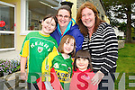 Pictured at the official opening of the school extension at Cullina National School on Thursday were Annemarie, Emma and Janelle O'Sullivan, Niamh Murphy and Susan Barrett.............................................................................