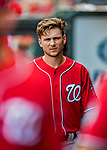 24 February 2019: Washington Nationals infielder Trea Turner in the dugout during a Spring Training game against the St. Louis Cardinals at Roger Dean Stadium in Jupiter, Florida. The Nationals defeated the Cardinals 12-2 in Grapefruit League play. Mandatory Credit: Ed Wolfstein Photo *** RAW (NEF) Image File Available ***