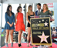 LOS ANGELES, CA. October 24, 2019: Charlotte Connick, Sarah Kate Connick, Georgia Connick, Harry Connick Jr. & Jill Goodacre at the Hollywood Walk of Fame Star Ceremony honoring Harry Connick Jr.<br /> Pictures: Paul Smith/Featureflash