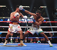 DALLAS, TX - MARCH 16: Errol Spence Jr. fights Mikey Garcia for the IBF  World Welterweight Championship at the Fox Sports PBC Pay-Per-View fight night at AT&T Stadium on March 16, 2019 in Dallas, Texas. (Photo by Frank Micelotta/Fox Sports/PictureGroup)