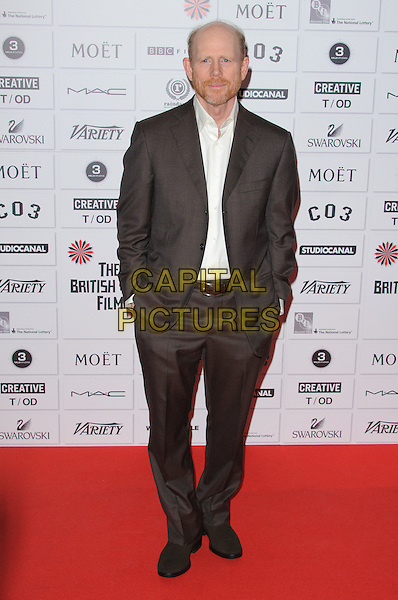 Ron Howard.14th Moet British Independent Film Awards 2011, Old Billingsgate, Lower Thames Street, London, England, 4th December 2011.full length brown suit white shirt hands in pockets beard facial hair.CAP/CJ.©Chris Joseph/Capital Pictures.