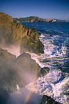 Surf Rainbow, near Rodeo Beach, Marin Headlands, Golden Gate National Recreation Area, California