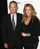 www.acepixs.com<br /> <br /> April 26 2017, New York City<br /> <br /> Tom Hanks and Rita Wilson arriving at the premiere of 'The Circle' at the BMCC Tribeca PAC on April 26, 2017 in New York City.<br /> <br /> By Line: Nancy Rivera/ACE Pictures<br /> <br /> <br /> ACE Pictures Inc<br /> Tel: 6467670430<br /> Email: info@acepixs.com<br /> www.acepixs.com