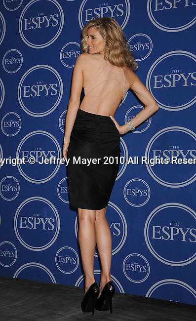 LOS ANGELES, CA. - July 14: Model Marissa Miller poses in press room during 2010 ESPY Awards at Nokia Theatre L.A. Live on July 14, 2010 in Los Angeles, California.