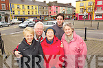 Members of Listowel's Tidy Towns from left: Julie Gleeson, Kieran Moloney, Mary Hanlon, Jimmy Moloney and Mary McGrath pictired in the Square, Listowel.