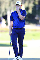 Tom Lewis (ENG) misses his putt on the 17th green during Friday's Round 2 of the 2018 Turkish Airlines Open hosted by Regnum Carya Golf &amp; Spa Resort, Antalya, Turkey. 2nd November 2018.<br /> Picture: Eoin Clarke | Golffile<br /> <br /> <br /> All photos usage must carry mandatory copyright credit (&copy; Golffile | Eoin Clarke)