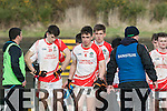 A dissapointed  Marc o'Connor and Brian Begley from  PS Chorcha Dhuibhne  after the Corn Uí Mhuire final in Killarney on Saturday