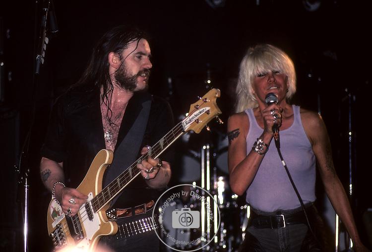 Lemmy & Wendy O Williams . 10th Anniversary concert London England Motorhead, Lemmy , Motorhead