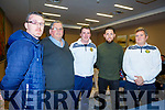 Attending the U13/U15 League of Ireland information evening in the Rose Hotel on Thursday night.<br /> L-r, Darren Ahern (FAI Development Officer), Padraig Harnett (Chairman Kerry Schoolboys/Girls Leagues), David Slattery (Treasurer), Billy Dennehy (Football Co-Ordinator) and Stuart Etherington (Committee Member).