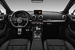 Stock photo of straight dashboard view of 2017 Audi A3 S-Line 4 Door Sedan Dashboard