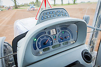 New Holland tractor dashboard - working at 2,000 RPM