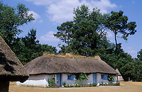 Europe/France/Pays de la Loire/85/Vendée/Saint-Hilaire-de-Riez/Bourrine du Bois-Juquaud : Habitats traditionnels