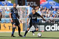 San Jose, CA - Saturday July 29, 2017: Darwin Ceren during a Major League Soccer (MLS) match between the San Jose Earthquakes and Colorado Rapids at Avaya Stadium.