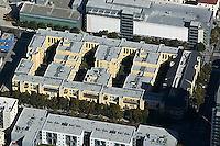 aerial photograph multifamily residential apartment complex near City Hall San Jose, San Clara county, California