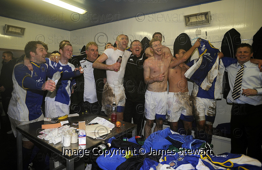 08/03/2008    Copyright Pic: James Stewart.File Name : sct_jspa17_qots_v_dundee.THE QUEEN OF THE SOUTH PLAYERS CELEBRATE THEIR WIN.James Stewart Photo Agency 19 Carronlea Drive, Falkirk. FK2 8DN      Vat Reg No. 607 6932 25.Studio      : +44 (0)1324 611191 .Mobile      : +44 (0)7721 416997.E-mail  :  jim@jspa.co.uk.If you require further information then contact Jim Stewart on any of the numbers above........