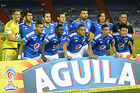 BARRANQUILLA  -COLOMBIA, 3-11-2016. Formación de Millonarios  contra Junior  durante encuentro  por la fecha 15 de la Liga Aguila II 2016 disputado en el estadio Metropolitano Roberto Meléndez ./ Team of Millonarios against Junior  during match for the date 15 of the Aguila League II 2016 played at Metropolitano Roberto Melendez stadium . Photo:VizzorImage / Alfonso Cervantes  / Contribuidor